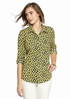 crown & ivy™ Fish Button Down Shirt