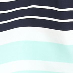 Crown & Ivy™ Women Sale: Navy/White/Mint crown & ivy™ Weighted Striped Peasant Top