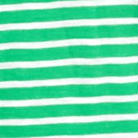 Crown & Ivy™: Green/White crown & ivy™ Stripe V-Neck Tee