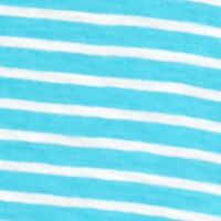 Crown & Ivy™: Aqua/White crown & ivy™ Stripe V-Neck Tee