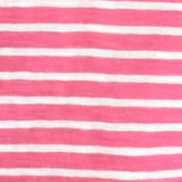 Crown & Ivy™: Pink/White crown & ivy™ Stripe V-Neck Tee