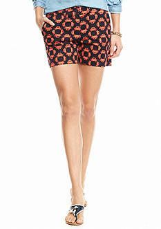 crown & ivy™ Crab Circles Printed Shorts