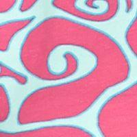 Sweatshirts for Women: Pink/Blue crown & ivy™ beach Printed Half-Zip Sweatshirt