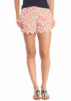 crown & ivy™ Chili Pepper Scallop Short