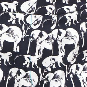 Women: Shorts & Bermudas Sale: Navy/White crown & ivy™ Safari Stampede Scallop Shorts