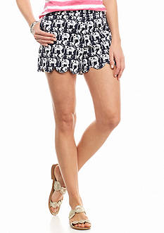crown & ivy™ Safari Stampede Scallop Shorts
