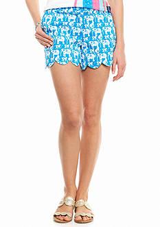 crown & ivy™ Safari Stampede Scallop Shorts