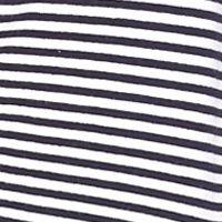 Women's Resort Tops: Navy/White crown & ivy™ beach Striped Mock Neck Jacket