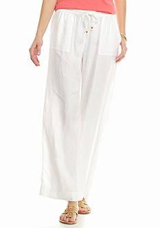 crown & ivy™ beach Wide Leg Linen Pant