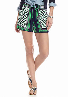 crown & ivy™ Print Drawstring Soft Short