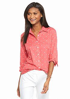 crown & ivy™ Polka Dot Shirt