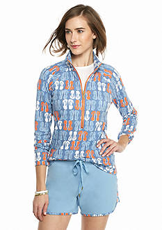 crown & ivy™ beach Flip Flop Half Zip Sweatshirt