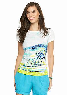 crown & ivy™ Pebble Beach Short Sleeve Tee