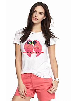 crown & ivy™ Lovebirds Short Sleeve Tee