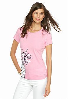crown & ivy™ Side Pineapple Short Sleeve Tee