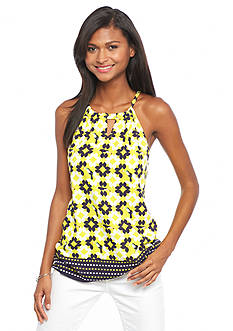crown & ivy™ A Clever Toucan Woven Halter Top