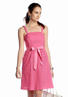 crown & ivy™ Seaside Eyelet Dress