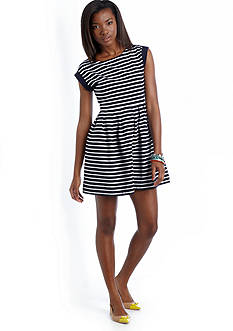 crown & ivy™ Seaside Striped Skater Dress
