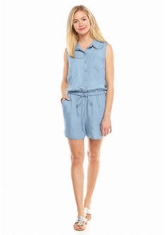 crown & ivy™ Sleeveless Chambray Romper