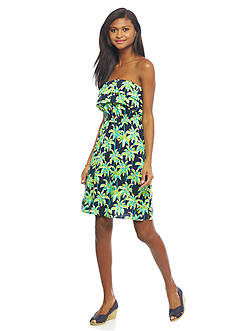 crown & ivy™ Strapless Monkey Ruffle Dress