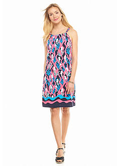crown & ivy™ Seahorse Print Halter Dress