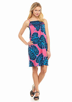 crown & ivy™ Leaf Print Halter Swing Dress