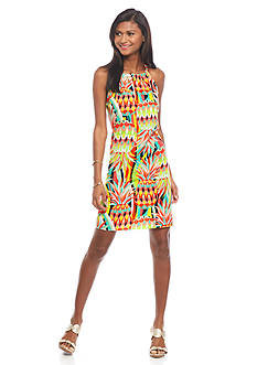 crown & ivy™ Pineapple Slide Halter Dress