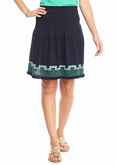 crown & ivy™ Embroidered Waist Skirt