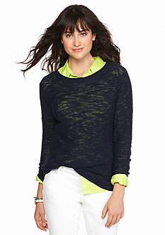 crown & ivy™ Round Hem Sweater