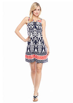 crown & ivy™ Pineapple Tiki Swing Dress
