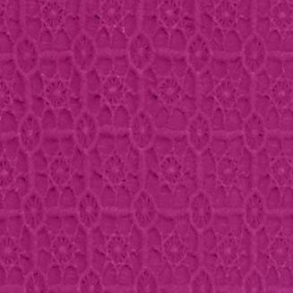 Women's T-shirts: Fuchsia crown & ivy™ Three-Quarter Sleeve Crochet Bib Top