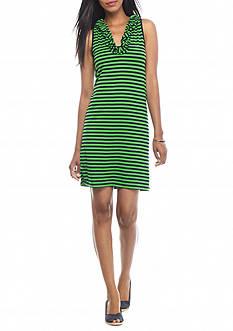 crown & ivy™ Ruffle Neck Dress