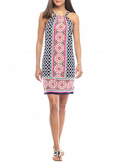 crown & ivy™ Retro Tribe Halter Dress
