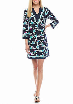 crown & ivy™ Printed Shift Dress