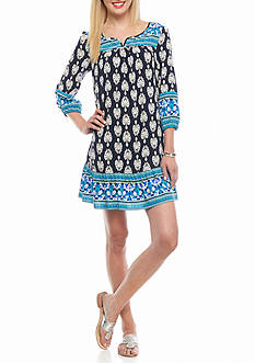 crown & ivy™ Printed Swing Dress