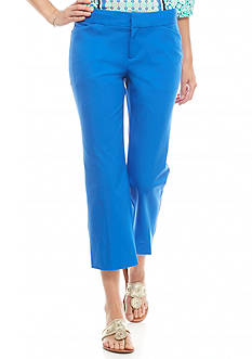 crown & ivy™ Wide Leg Bi-stretch Crop Pants