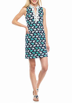 crown & ivy™ Elephant Print Dress