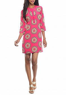 crown & ivy™ Retro Tribe Medallion Dress