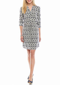 crown & ivy™ Printed Shirt Dress