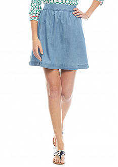 crown & ivy™ Chambray Skirt