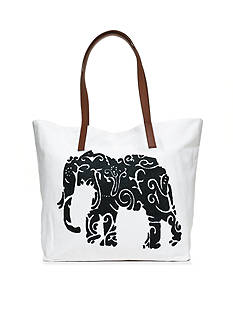 crown & ivy™ Single Elephant Tote