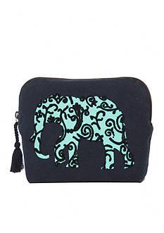 crown & ivy™ Single Elephant Cosmetic Bag