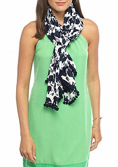 crown & ivy™ Elephant and Leaf Scarf