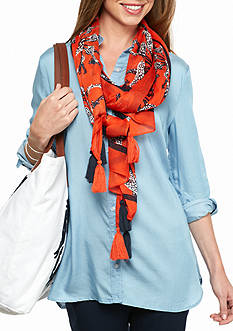 crown & ivy™ Giraffe Medallion Scarf