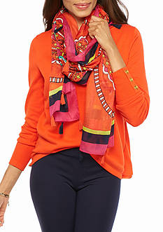 crown & ivy™ Multi Medallion Scarf