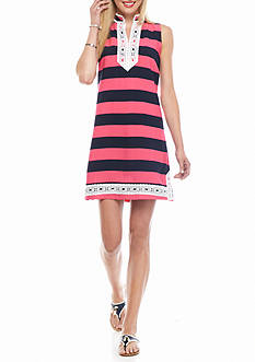 crown & ivy beach Crochet Trim Dress