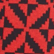 Sweaters for Women: Red/Black crown & ivy™ Graphic Tipped Tunic Sweater