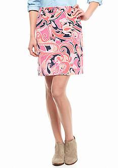 crown & ivy™ Printed Corduroy Skirt