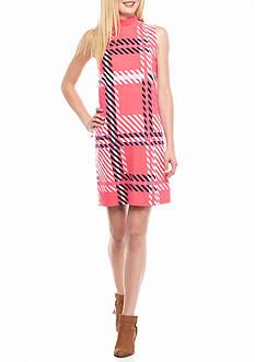 crown & ivy™ Knit Mock Shift Dress