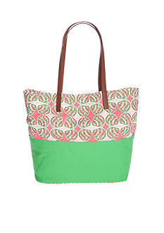 crown & ivy™ Shellified Print Tote Bag
